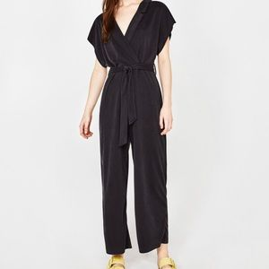 Bershka Crossover Jumpsuit with Belt Size M